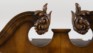 Queen Anne Style Walnut Secretary Bookcase