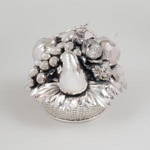Fratelli Lisi Silver Model of a Fruit Basket