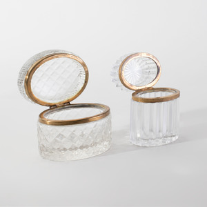 Group of Gilt Metal-Mounted and Cut Glass Table Articles