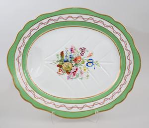 English Green Ground Porcelain  Part Dinner Service
