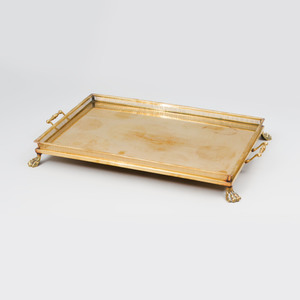 Gilt-Metal Two Handled Serving Tray