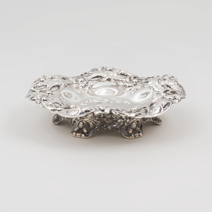 Gorham Silver Dish with Reticulated Rim