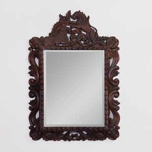 Two Black Forest Style Mirrors
