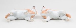 Pair of Staffordshire Models of Dogs