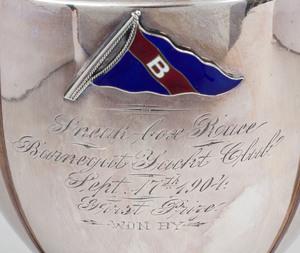 Silver Plate and Enamel Yachting Trophy