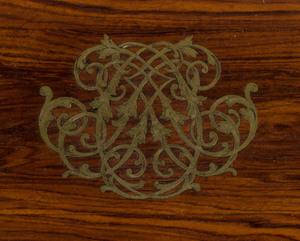 English Brass-Mounted Rosewood Humidor with Joseph Bramah Brass Lock