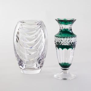Two Val St. Lambert Glass Vases