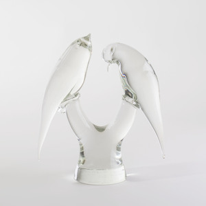 Elio Raffaeli Murano Glass Model of Birds