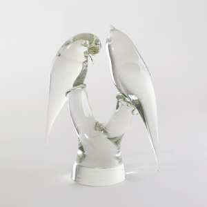 Elio Raffaeli Murano Glass Model of Birds