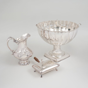 Group of Three Silver Plate Table Wares