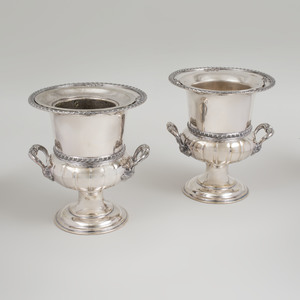 Pair of Silver Plate Wine Coolers