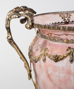 Gilt Metal-Mounted Glass Vase