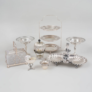 Group of Silver and Silver Plate Table Wares