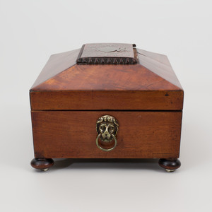 Regency Mahogany Brass-Mounted Table Box