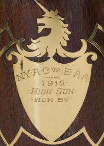 Brass and Wood Inlaid Trophy Cup