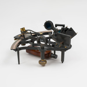 Heath and Co. Curve-Bar Sextant, in a Fitted Wood Box