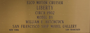 William E. Hitchcock Painted Wood Ship Model of the Eico Motor Cruiser Liberty