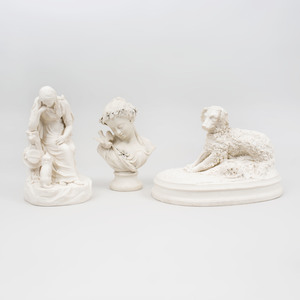 Group Three of Parian Figures