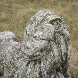 Cast Stone Model of a Recumbent Lion