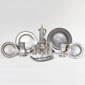 Group of Pewter Wares