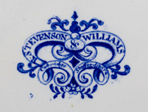 Stevenson & Williams Transfer Printed Porcelain Pierced Dish and Stand