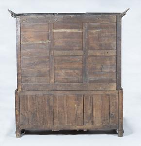 George III Oak Two-Piece Linen Press
