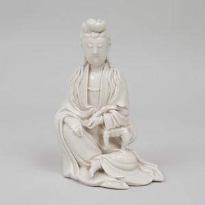 Chinese Dehua Porcelain Figure of Guanyin