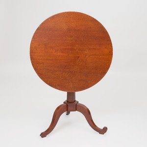 Louis XVI Mahogany Tilt-Top Tripod Table