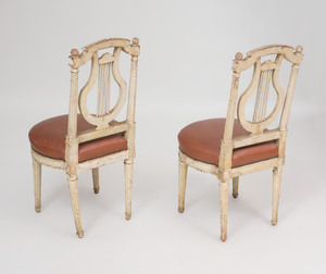 Pair of Louis XVI Chaises à la Reine
