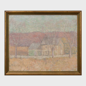 American School: House Among Autumn Trees