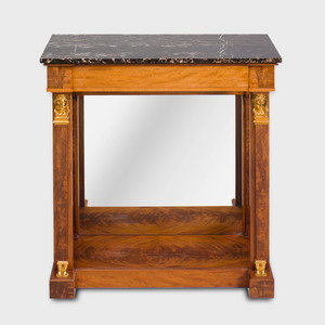 Empire Style Brass-Mounted Mahogany Console Table