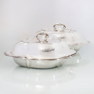 Pair of Bailey, Banks & Biddle Vegetable Dishes and Covers