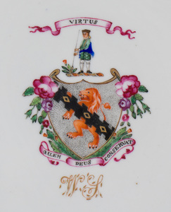 Pair of Chinese Export Porcelain Armorial Plates with the Arms of Spencer