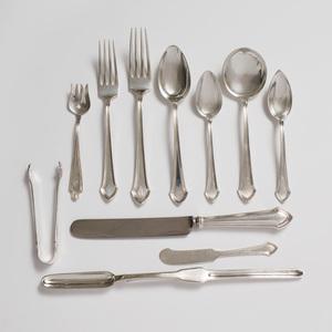 Durgin Silver Part Flatware Service in the 'Essex' Pattern