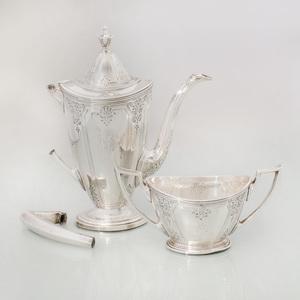 Durgin & Co. Silver Coffee Pot and Sugar Bowl
