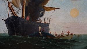 American School: Whaling at Sea