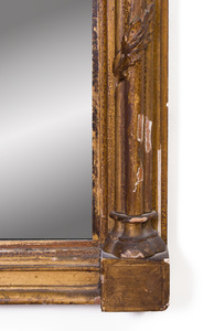 Federal Giltwood and Verre Églomisé Pier Mirror