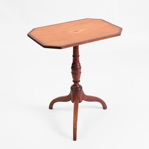 Federal Inlaid Mahogany Octagonal Tilt-Top Tripod Table