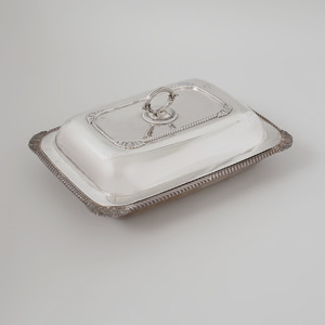 Late George III Silver Rectangular Vegetable Dish & Cover