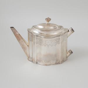 George III Engraved Silver Tea Pot