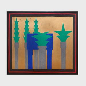 Ned Smyth (b. 1948): Untitled (Study for Reverent Grove)
