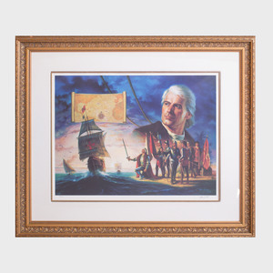 After John Duillo: Christopher Columbus Discovers America ; and Ships