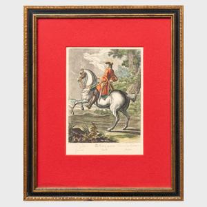 French School: Equestrian Views: Six Plates