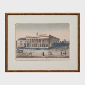 French School:  Vue de Palais de la Bourse