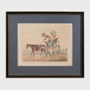 English School: Five Equestrian Plates