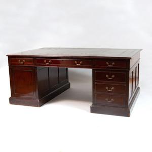 George III Style Mahogany Partner's Desk