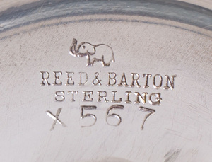 Pair of Reed and Barton Silver Bud Vases in the 'Francis I' Pattern