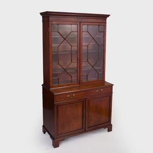 Small George III Mahogany Bookcase Cabinet