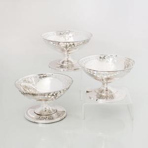 Set of Twelve A.H. Hadley Silver Sorbet Bowls