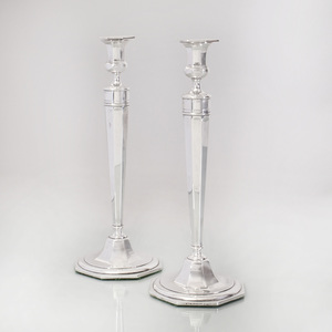 Pair of Reed and Barton Silver Candlesticks